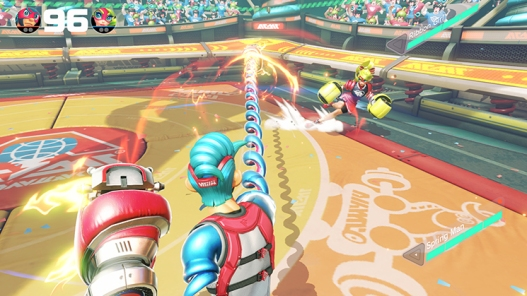 Arms for the Nintendo Switch - Screenshots - Ribbon Girl Side Stepping Attack