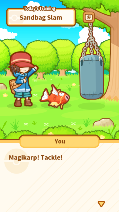 Magikarp doing what it does best - nothing at all.