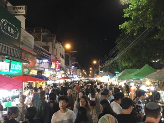 Night market in Chiang Mai.
